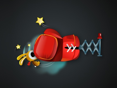 Stone Cold Punch vectober illustration game-design