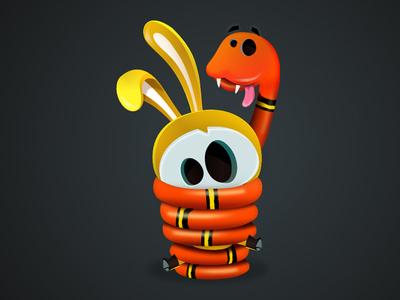 Snake vectober vectors illustration character-design game-design