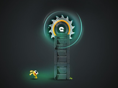 Slide in Half game-design character-design illustration vectors vectober