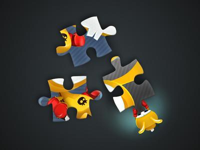 Puzzle Box game-design character-design illustration vectors vectober