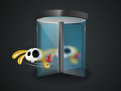 Revolving Doors game-design character-design illustration vectors vectober