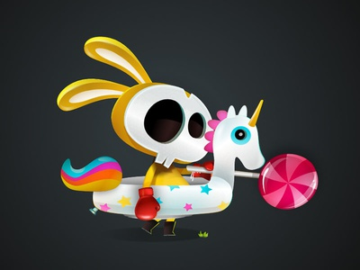 Don Quijote game-design character-design illustration vectors vectober
