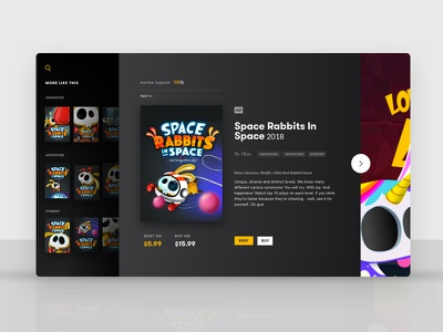 Space Rabbits in Space...and on TV also ui illustration game-design