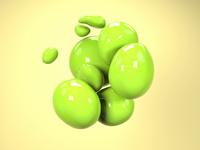 Blob animation illustation floating blob cgi c4d cinema4d animation