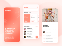 Evite  - manage your party app party logo ui typography design ux