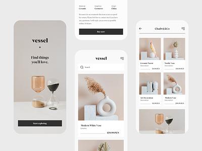Vessel – Ceramic Online Store ceramics mobile shop store ux ui