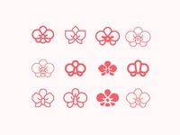 Orchid flower - icons