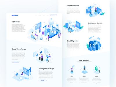AltoStack - Services devops consultancy cloud isometric illustration ux ui