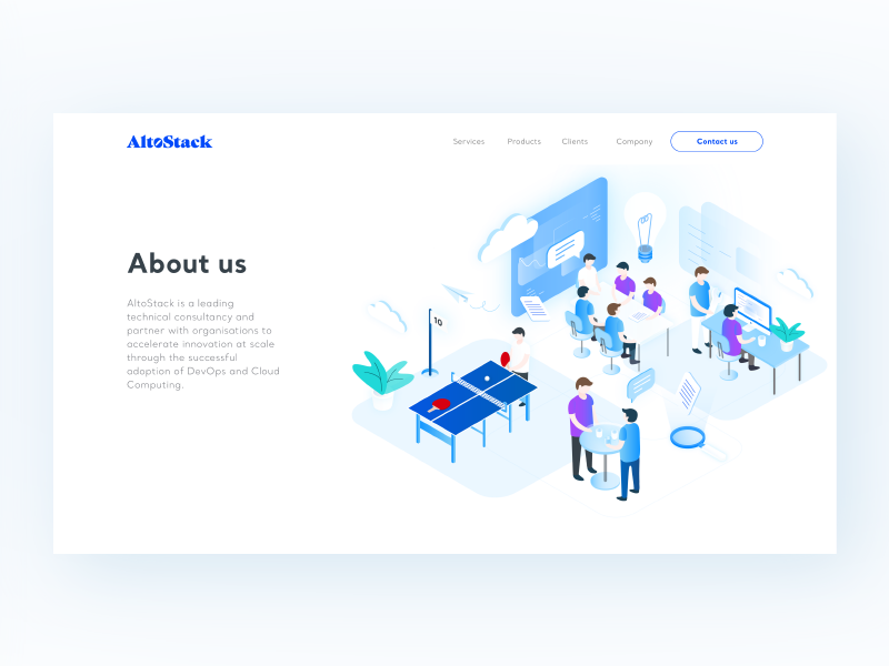 AltoStack - About us by Aga Jucha for Netguru on Dribbble