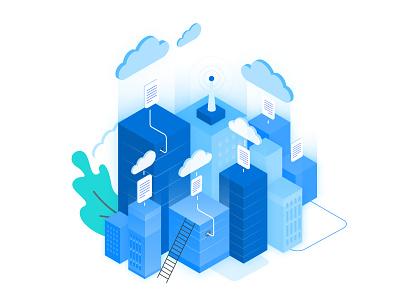 AltoStack - Illustration ui ux illustration isometric cloud consultancy devops