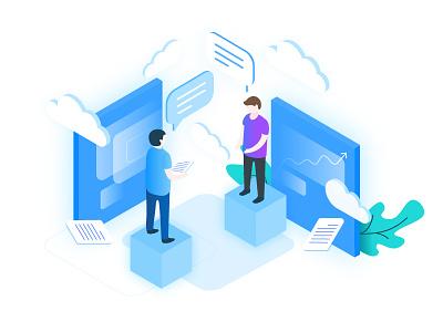 AltoStack – Cloud Consulting Illustation devops consultancy cloud isometric illustration ux ui