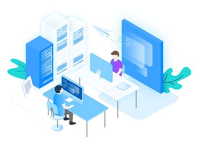 AltoStack – Outsourced DevOps Illustration ui ux illustration isometric cloud consultancy devops