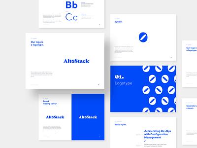 Altostack – Branding consultancy geometric brand tech brandbook styleguide lookbook corporate branding typography logo devops cloud branding