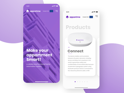 Appartme - mobile typography ux ui appartment product mobile appartme smarthome