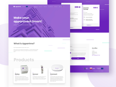 Appartme - web typography ux ui web product appartme smarthome apartment