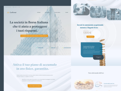 Website Design for Financial Services Company subtle architecture web design landing page investment financial trade minimalistic clean gold italy finance bank fintech