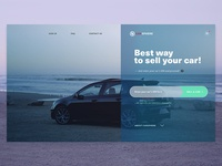 Website Concept for Car Selling Company