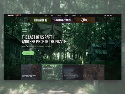 Naughty Dog: Website Redesign Concept