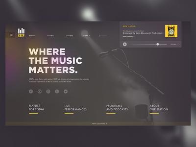KEXP: Website Redesign Concept