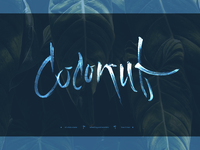 Coconut lettering