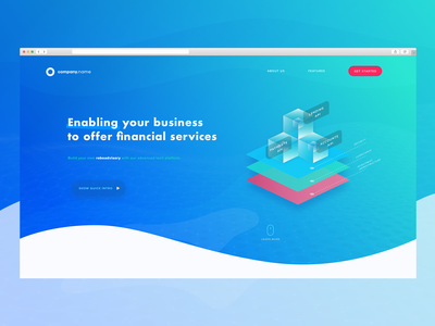 Landing Page for Financial Startup