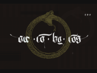 Ouroboros calligraphy shot