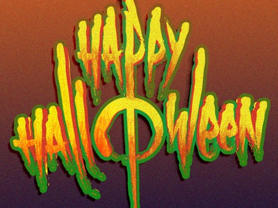 Happy Halloween lettering music rock graffiti grunge halloween typography custom font calligraphy video game game logo lettering