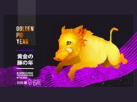 Golden Pig Year Postcard