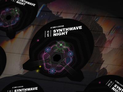 Synthwave Concert Sticker
