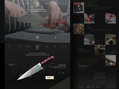 Promo Website for Chef Knife Manufacturer