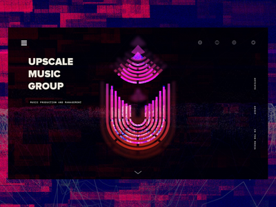 Website & Visual Design for Indie Record Label web design product design neon animated logo promo media typogaphy branding logo glitch glitchy sci-fi record label landing page hero splash production mastering record music