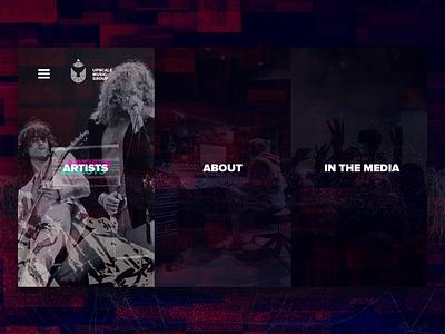 Website & Visual Design for Indie Record Label hiphop sound media audio production mastering website splash sci-fi neon music industry glitch grunge navigation ui animation product design web design logo music