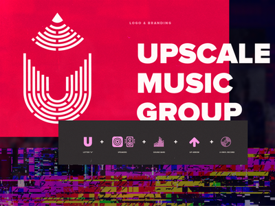 Logo and Branding Design for Indie Record Label branding record label musicians musician production mastering sound audio glitch rap hiphop rock typography music logo