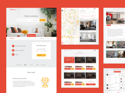 UlovDomov.cz ulovdomov living flat home house startup start-up red yellow