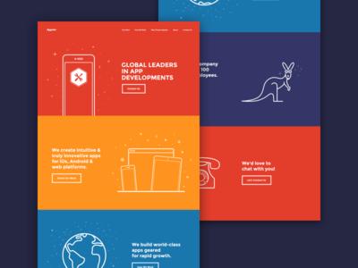 Appster developers simple development phone planet kangaroo australia illustrations agency appster