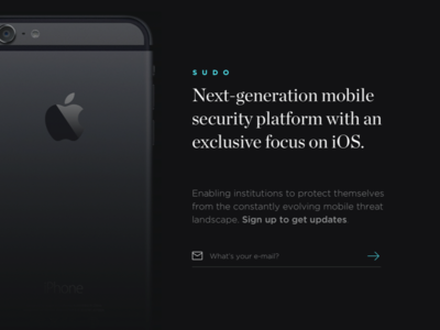 Sudo coming soon [WIP] coming soon subscription email platform mobile antivirus ios iphone security sudo