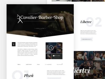 Cavalier Barber Shop badass presentation landing onepage shop barber cavalier