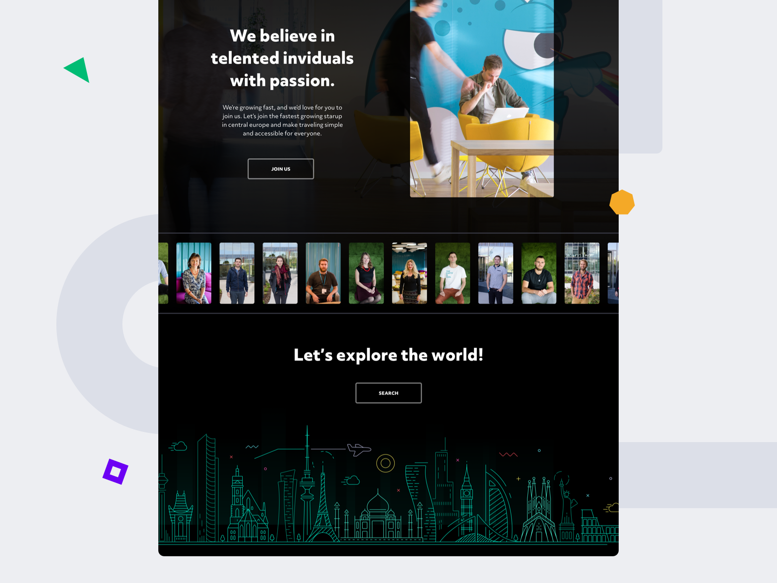Landing page footer 2x