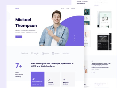 Mickael - Personal Website branding clean design landing page web design ui portfolio personal