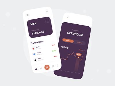 Finance App ui design mobile app android ios ui bank wallet fintech bank app money app mobile finance