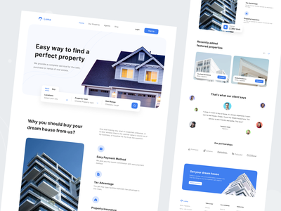 Loma - Real Estate Home Page house appartment home property agency clean design ux ui web design web site landing page rent real estate