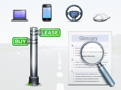 Ford Icons 60px 206px icon icons jelly labs pinky von pout device document glossary iphone laptop magnify mobile mouse paper phone post search sign wheel macbook pro magnifying glass sign post steering wheel street sign category icons