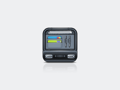 Work It | iOS Icon #1 application icon application retina display retina pinky von pout jelly labs iphone 4 iphone icons icon 114px credit card pens document paper task briefcase