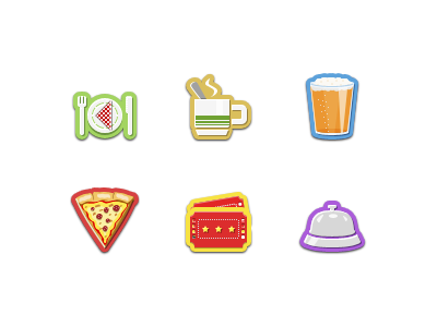Category Icons retina display retina pinky von pout jelly labs iphone 4 iphone icons icon 64px alarm alcohol beer bell coffee cutlery drink food fork knife napkin pin pizza plate spoon steam tickets category icons