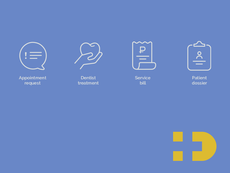 Medical CRM preview logo icons dent clinic crm