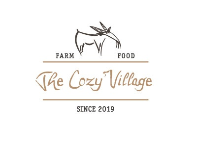 Cozy Logo logotype farm food cheeze
