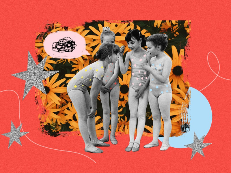 Girls can be mean illustration collage