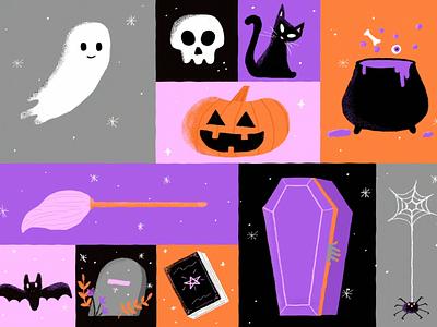 Halloween 2020 design motion graphics illustration