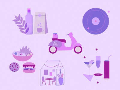 Illustrations for highlights for Insta drawing illustration social media