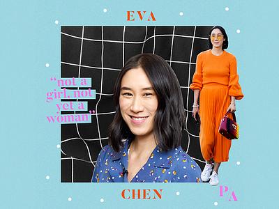 Eva the diva! visual branding social media collage